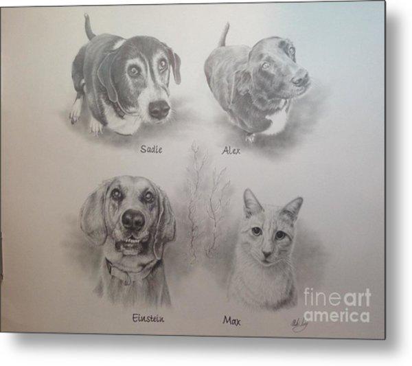 Cline Pets Metal Print
