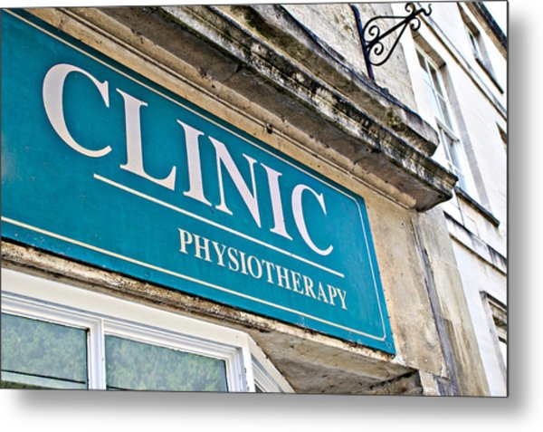 Clinic Sign Metal Print
