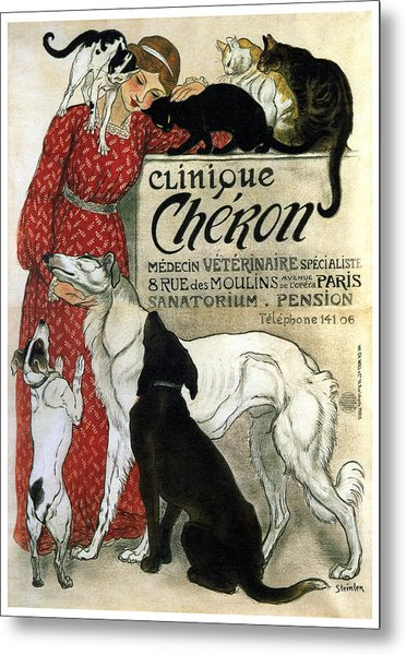 Clinique Cheron - Vintage Clinic Advertising Poster Metal Print