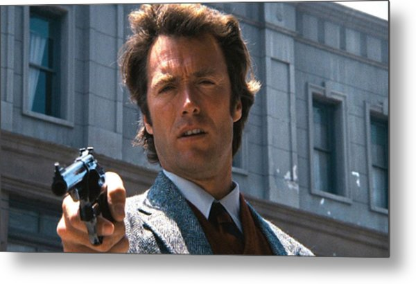 Clint Eastwood With 44 Magnum Dirty Harry 1971 Metal Print