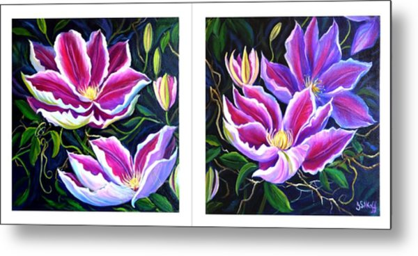 Cllementis Metal Print by Janet Silkoff