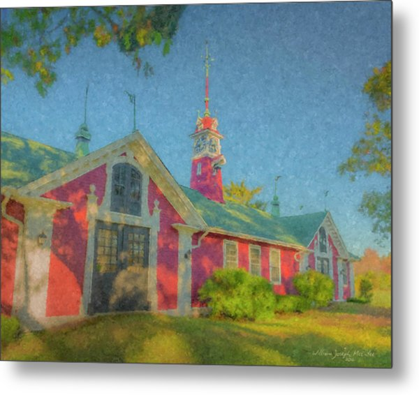 David Ames Clock Farm Metal Print