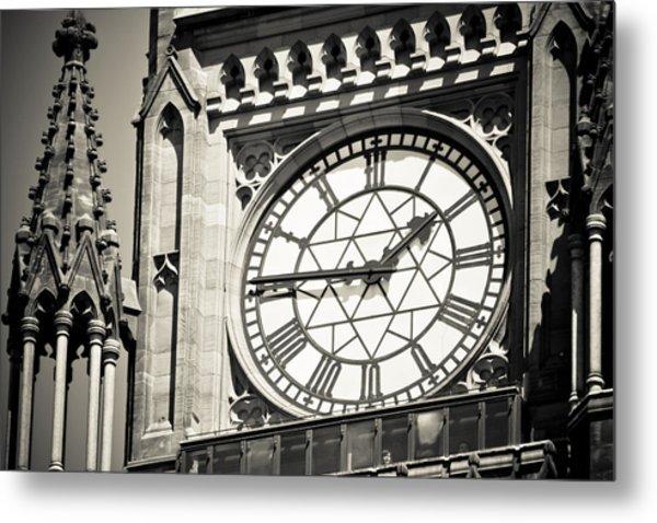 Clock Tower Metal Print by Martina Heart