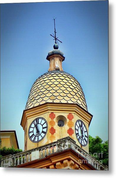 Clock Tower Of Portofino Metal Print by Sue Melvin