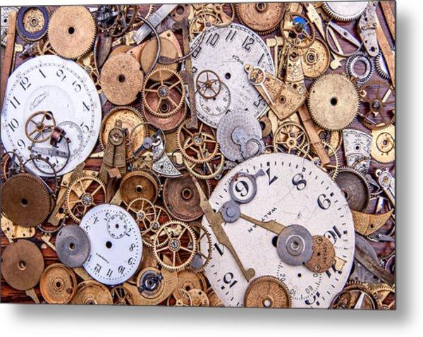 Clockworks Still Life Metal Print