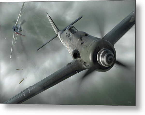 Close Call Metal Print