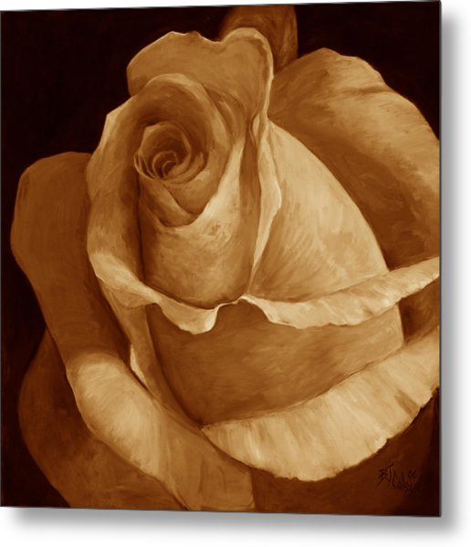 Close To Perfection Sepia Metal Print by Billie Colson
