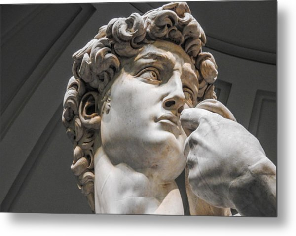 Close Up Of David By Michelangelo Metal Print