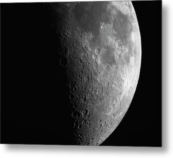 Close-up Of Moon Metal Print