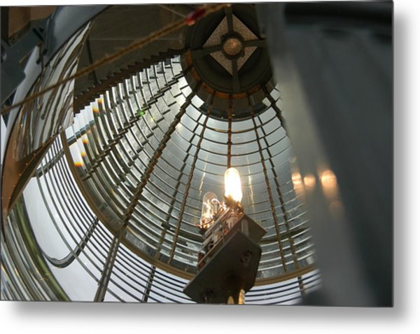 Closeup Of Lighthouse Metal Print