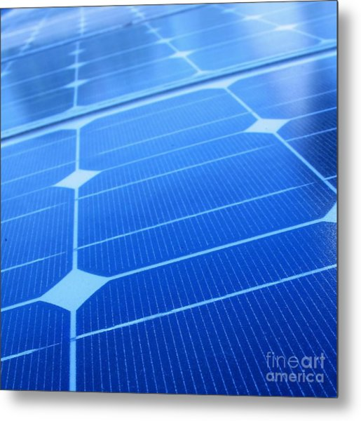 Closeup Of Solar Panels Metal Print