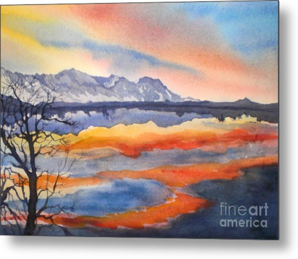 Closing Of The Day At Farmer's Pond Metal Print