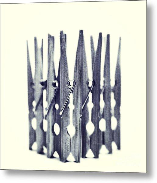 Clothespin Metal Print