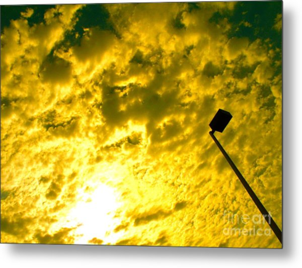 Cloud Battles In The Sky Metal Print by Chuck Taylor
