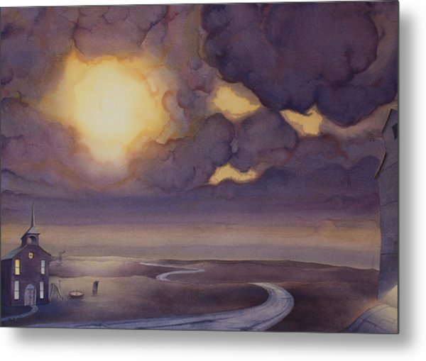 Cloud Break On The Northern Plains II Metal Print