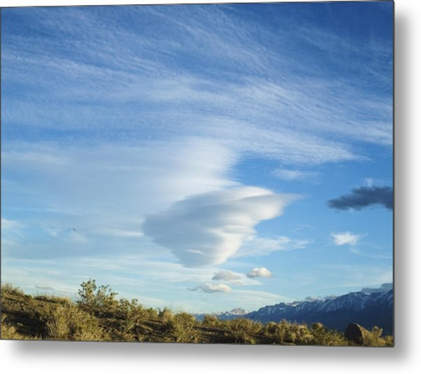 Cloud Channel Metal Print by Alpha Pup
