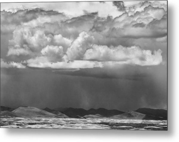 Cloudy Weather Metal Print