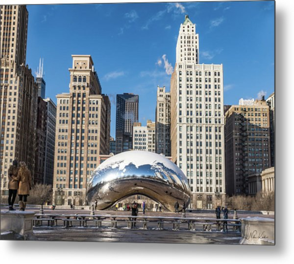 Cloud Gate To Chicago Metal Print