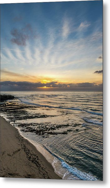 Cloud Rays Vertical Metal Print