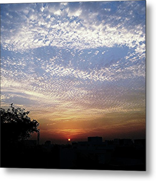 Cloud Swirl At Sunrise Metal Print