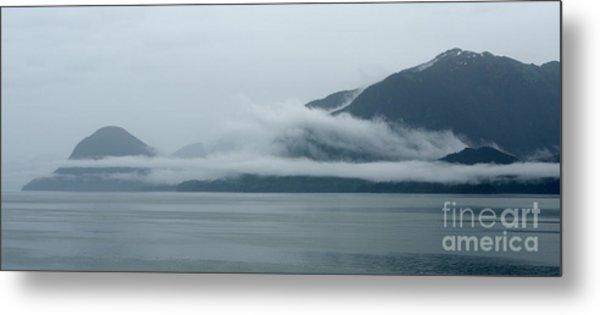 Cloud-wreathed Coastline Inside Passage Alaska Metal Print