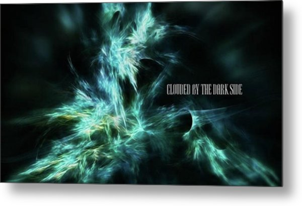 Clouded By The Dark Side #art #abstract Metal Print by Michal Dunaj