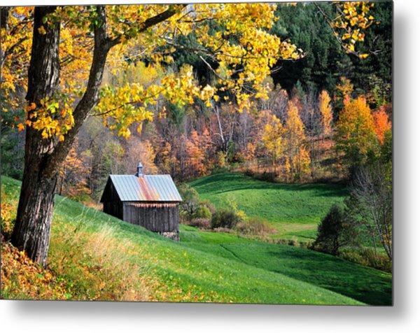 Cloudland Rustic Barn - Pomfret Vermont Metal Print