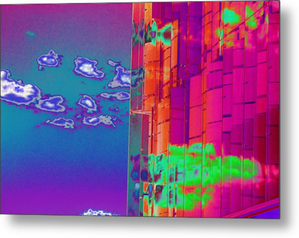 Clouds And Glass Metal Print by Richard Henne