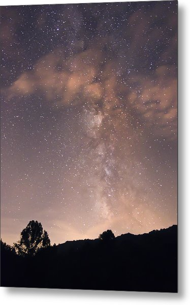 Clouds And Milky Way Metal Print