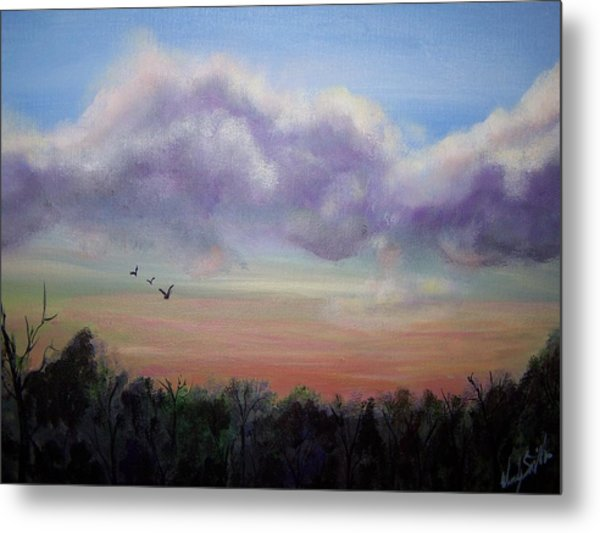 Clouds At Dusk Metal Print by Wendy Smith