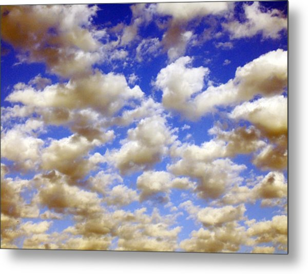 Clouds Blue Sky Metal Print