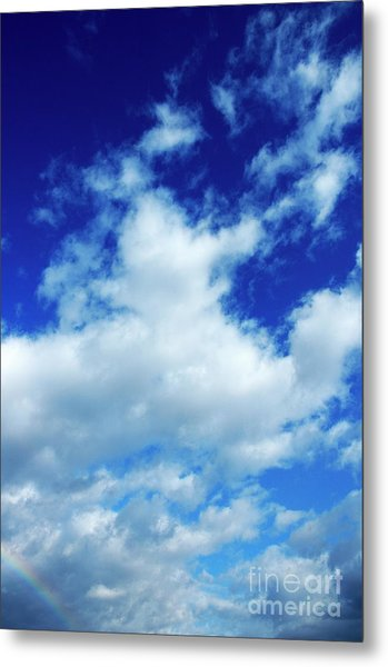 Clouds In A Beautiful Blue Sky Metal Print by Sami Sarkis