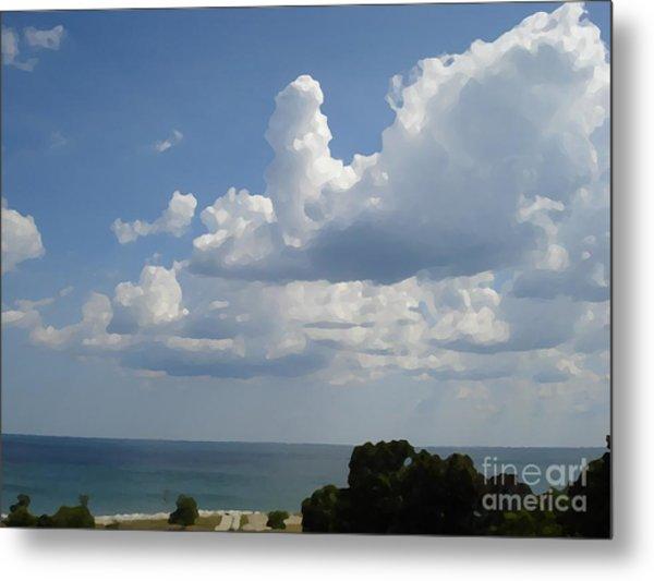 Clouds In August Metal Print by John  Bichler