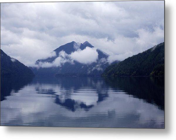 Clouds In The Lake Metal Print