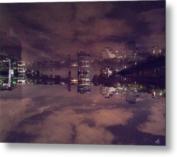 Clouds In The Passaic - Newark Nj Metal Print