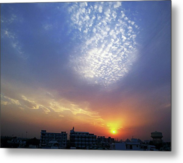 Clouds In The Sky Metal Print