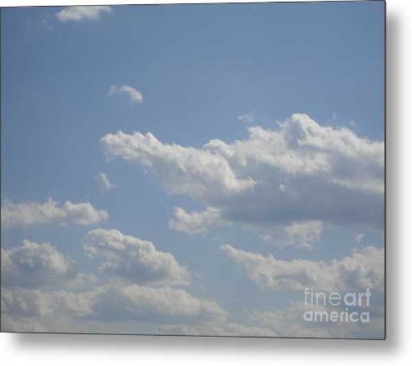 Clouds In The Sky One Metal Print by Daniel Henning
