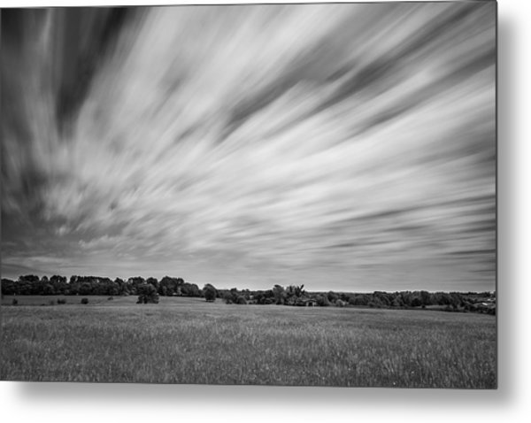 Metal Print featuring the photograph Clouds Moving Over East Texas Field by Todd Aaron
