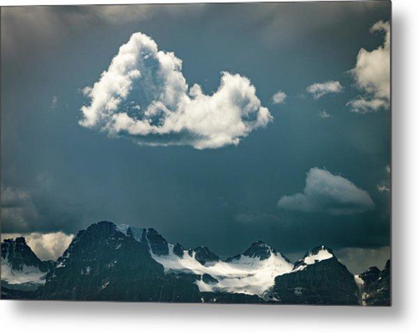 Clouds Over Glacier, Banff Np Metal Print