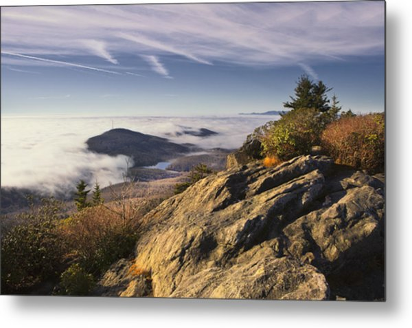 Clouds Over Grandmother Mountain Metal Print