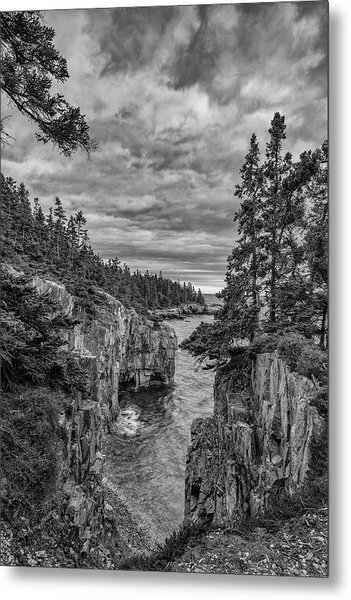 Clouds Over The Cliffs Metal Print