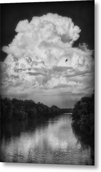 Clouds Over The Coosa River Metal Print