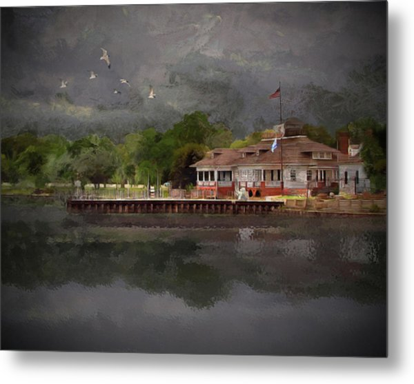 Clouds Over The Harbor - Limited Edition Metal Print