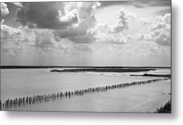 Clouds Over The Lake. Sivash, 2011. Metal Print