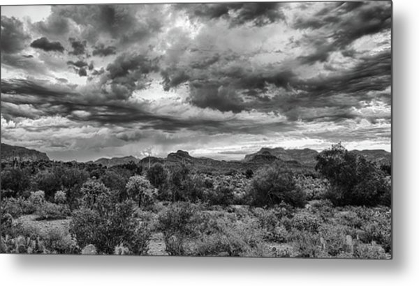 Clouds Over The Superstitions Metal Print