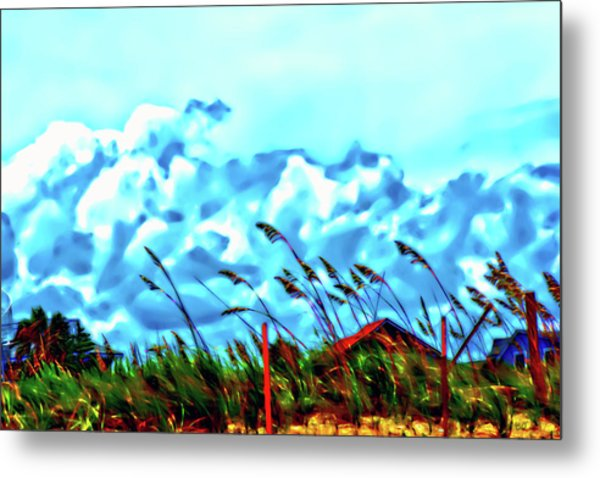 Clouds Over Vilano Beach Metal Print