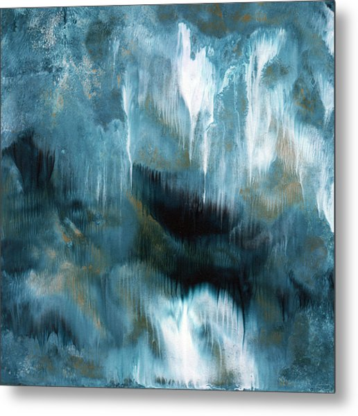 Clouds Rolling In- Abstract Art By Linda Woods Metal Print