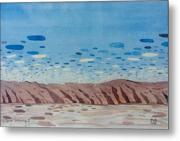 Clouds Swimming Metal Print by Vaughan Davies