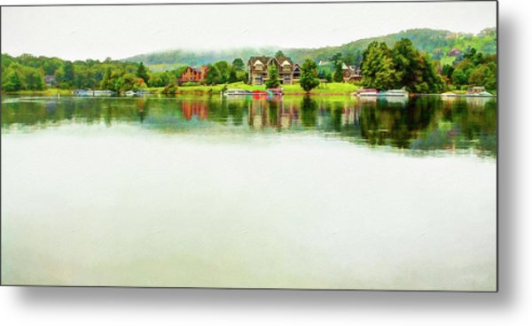 Cloudy Day On The Lake Metal Print