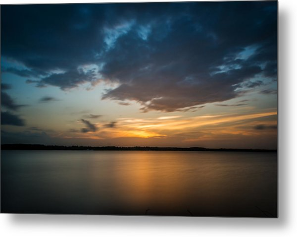 Metal Print featuring the photograph Cloudy Lake Sunset by Todd Aaron
